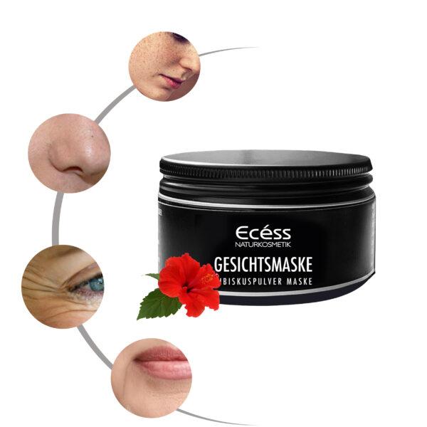 Hibiskus Gesichtsmaske