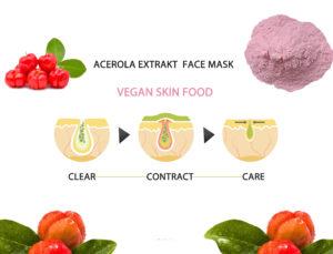 Acerola -Extrakt Gesichtsmaske